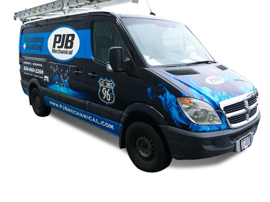 PJB Mechanical Utility Van Wrap Vancouver
