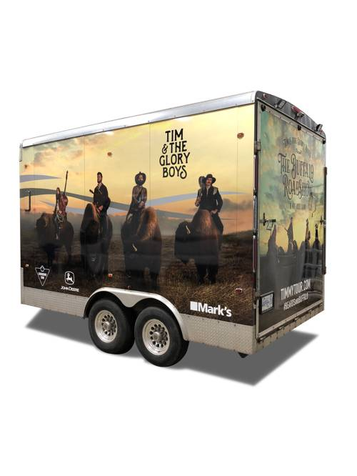 Tim & The Glory Boys Band Trailer Wrap