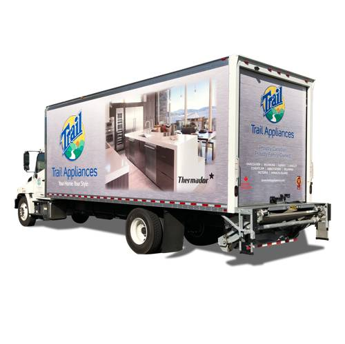 Trail Appliances Box Truck Wrap Vancouver