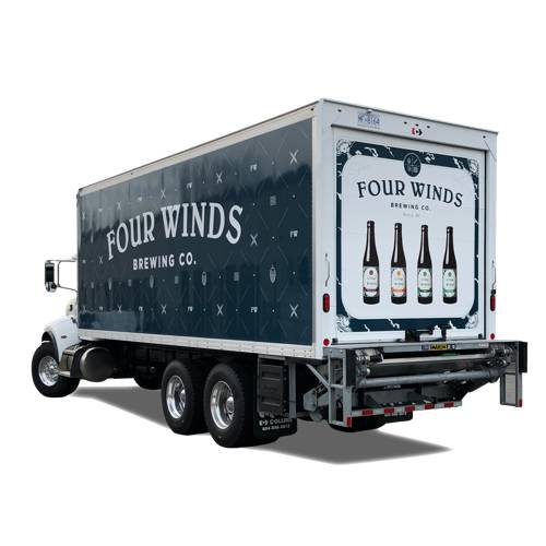 Four Winds Brewing One Ton Truck Wrap