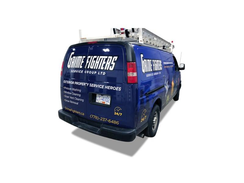 Grime Fighters Commercial Van Wrap