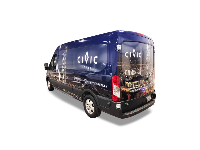 Surrey Civic Hotel Commercial Van Wrap