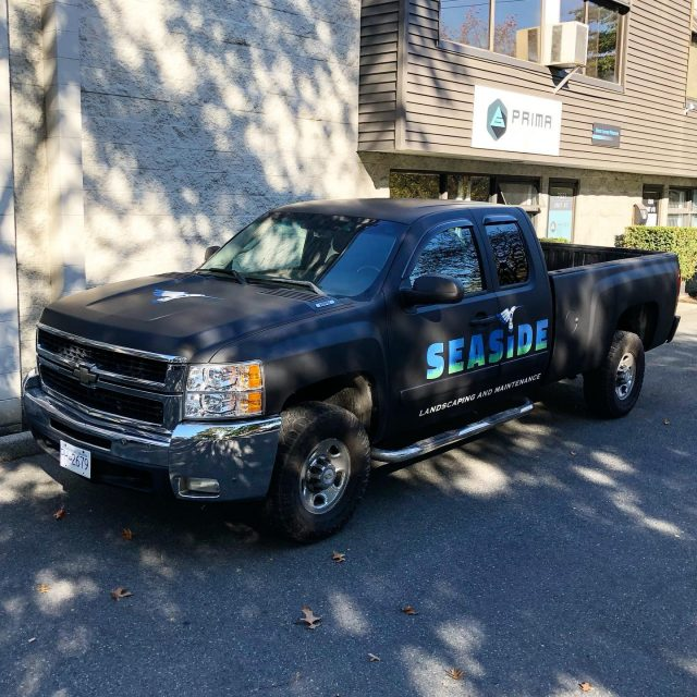 A full 3M Matte Black wrap + printed decals for the team over at Seaside Landscaping. @seaside_lm **************************************************** #wrap #wraps #wrapped #mattewrap #matte #matteblack #3m #3mwrap #3mwraps #wrapshop #wrapinstaller #layednotsprayed #paintisdead #graphics #branding #wemeanbusiness #ads #advertisement #advertising