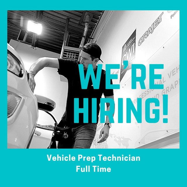 Our team is growing and we are looking for a energetic, responsible and hard-working candidate to join our team! The position is for a Vehicle Prep. Technician. Some duties for the position include: cleaning vehicles, dismantle/reassemble parts, and preparing materials. If you are interested, please email your resume to info@primagraphics.ca.