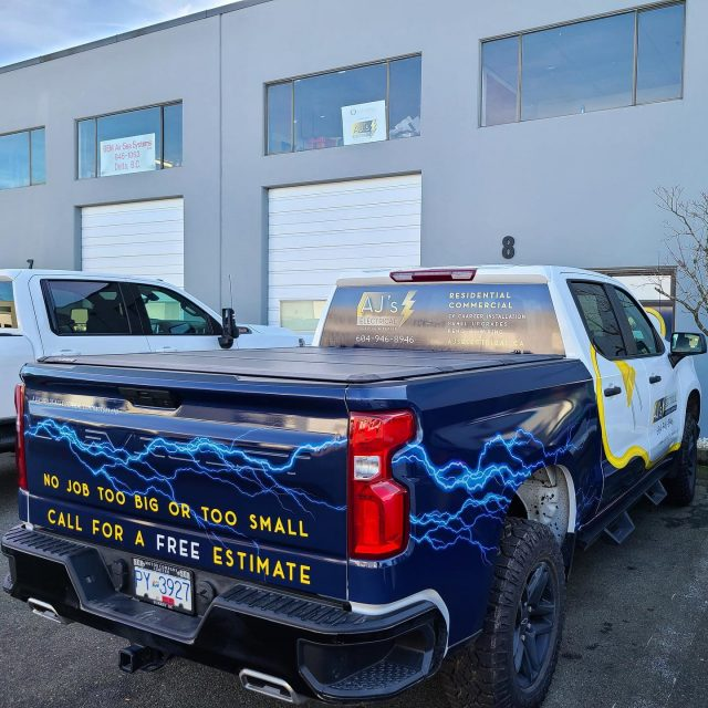 Another wrapped up vehicle on the road for the team with @ajs_electrical! Thank you for your business. 😊***************************************************#partialwrap #electrician #electricalcontractor #wrapping #vinylwrap #wrap #wrapped #vinylwrapping #design #vinylwraps #cars #vehiclewrap #vinyl #layednotsprayed #wraptools #wraplife  #wrapshop #wrappedworld #wrapstyle #comercialwraps