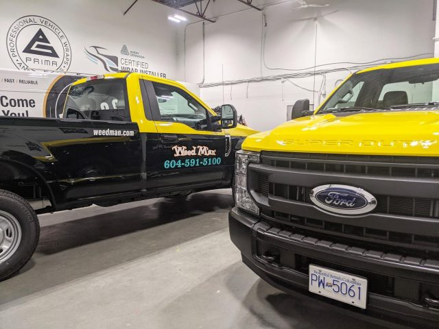 Some shiny new trucks added to the @weedman_lawncare fleet! 🙌