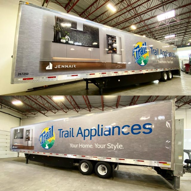 50 foot trailer wrap ✅  Thank you to @trailbc for your business. It was a pleasure working with your team, as always. 🙏  We would also like to thank our friends with @universalpressurewashing for helping to clean this beast and make it wrap ready! 🙌  **************************************************  #wrap #wrapped #vinylwrapping #wrappedcars #design #vinylwraps #cars #vehiclewrap #vinyl #layednotsprayed #wraptools #wraplife #carwrappers #wrapshop #wrappedworld #wrapstyle #comercialwraps