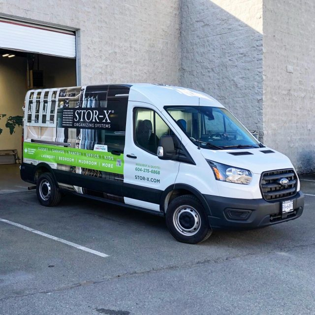 The fleet for @storxorganizingsystems just won't stop growing! Another one on the road for this fantastic company. 🔥  ******************************************************  #graphics #brand #advertising #vehiclegraphics #vehicleadvertising #mobilebillboard #wemeanbusiness #wrapshop #paintisdead