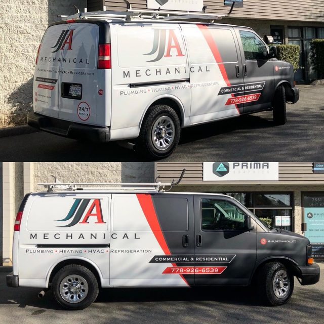 Huge shout out to the beauties over with @jja_mechanical_ltd! They decided to use a matte laminate for their partial wrap. What do you all think about their design? 😊  *****************************************************  #wrap #wraps #vehiclewrap #vinyl #layednotsprayed #wraplife #carwrappers #wrapshop #comercialwraps #matte #mattewrap