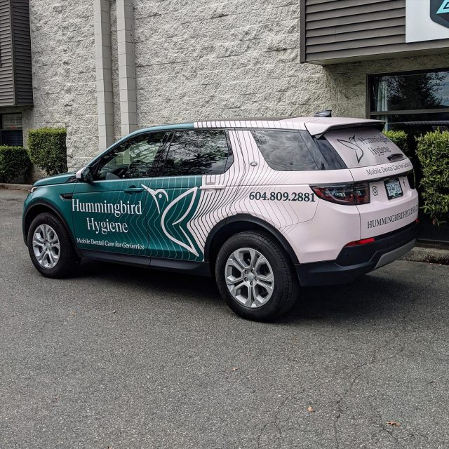 Check out this full wrap we installed for @hummingbird_hygienist. They used a matte laminate, which looks amazing with their branding colours. We hope everyone has a great weekend! 😊  ******************************************************  #wrappedcars #design #vinylwraps #cars #vehiclewrap #vinyl #layednotsprayed #wraptools #wraplife #carwrappers #wrapshop #wrappedworld #wrapstyle #comercialwraps