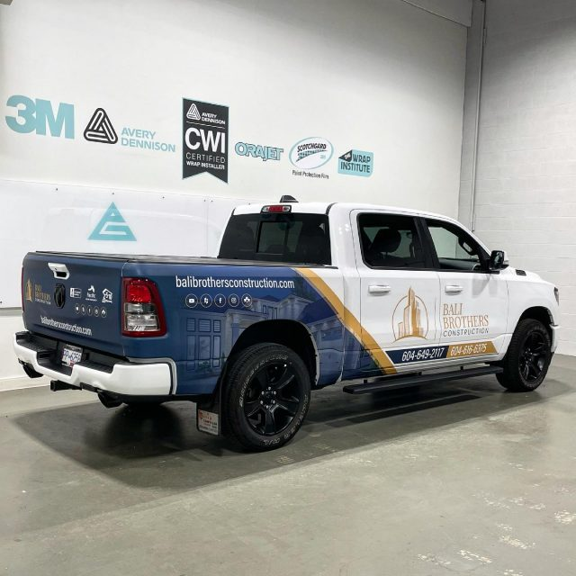 Here's a pic of the matte laminated partial wrap we installed for the amazing team with @balibrothersconstruction! A huge thanks to our designer @theroamingdesigner for the excellent job with the artwork 🔥  ****************************************************  #matte #mattewrap #construction #wrap #graphics #advertising #wemeanbusiness #wrapshop #3m