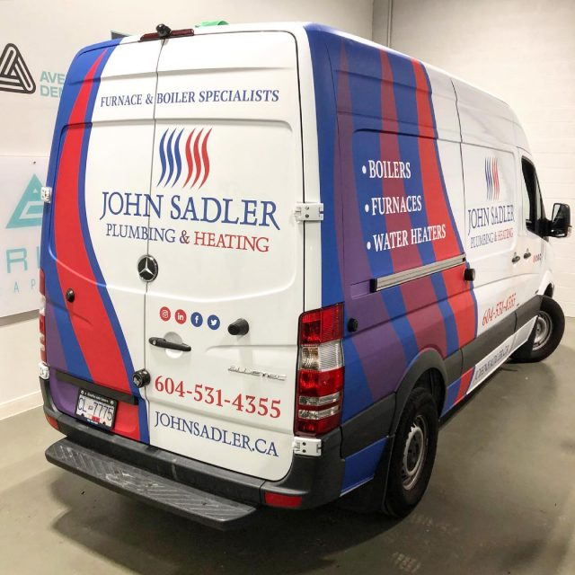 Check out this matte laminated partial wrap for the amazing team with @johnsadlerplumbingandheating! We helped them with a logo design, wrap design, and graphics installation. Thank you for your business 😊  ****************************************************  #vehiclewrap #vinyl #layednotsprayed #wraptools #wraplife #carwrappers #wrapshop #wrappedworld #wrapstyle #comercialwraps