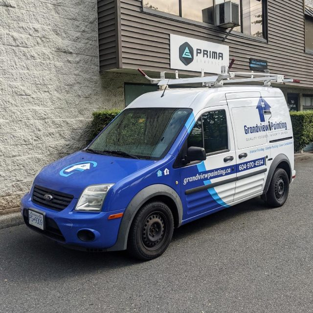 We would like to thank @grandview.painting for their business! We worked with them to design and install a partial wrap their Ford Transit Connect. All ready to hit the road! 🔥  *****************************************************  #vehiclewrap #vinyl #layednotsprayed #wraptools #wraplife #carwrappers #wrapshop #wrappedworld #wrapstyle #comercialwraps