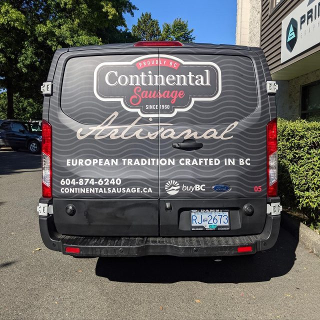 Check out this matte laminated partial wrap for Continental Sausage! Thank you for your business and we look forward to working with you again. 🔥  ****************************************************  #matte #mattewrap #design #graphics #brand #advertising