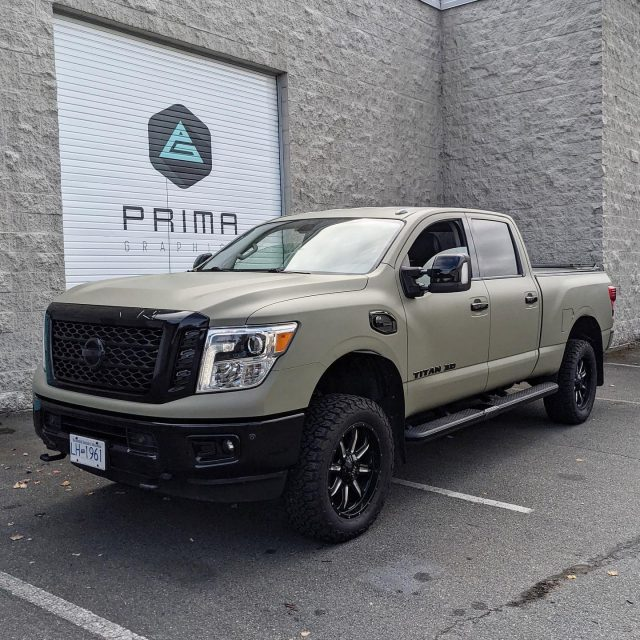 The pictures don't do justice! This beast was wrapped with the beautiful Avery Matte Khaki Green vinyl + Gloss Black vinyl chrome delete. Thank you to our friend @remaxjess for your business 🙏  *****************************************************  #wrap #wrapped #wrap #colourchange #colorchange #avery #mattekhakigreen #wrapshop #wrapinstallers #vinylwrap #nissantitan #nissanwrap #titan