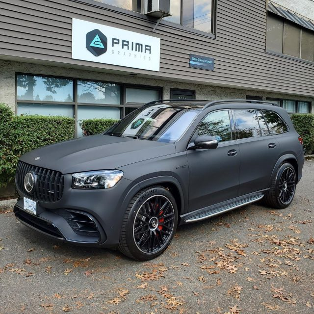 Check out this matte black wrap, with gloss black chrome delete, we installed on this beautiful Mercedes GLS63 AMG. All ready to hit the road and turn heads!  A huge thank you to Ken, with @brownbrosfordlincoln, for the customer referral 🙏  *****************************************************  #mercedes #amg #mercedesamg #gls63 #matte #matteblack #wrap #wraps #colorchange #colourchange #vinyl #vinylwrap #3m #avery