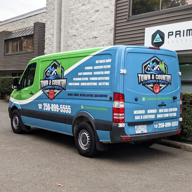 Check out this full wrap we designed and installed for @plumbingokanagan! It was awesome to work with their team. They are true professionals and we would highly recommend 🔥  *****************************************************  #wrap #wraps #wrapped #vehiclegraphics #plumbing #plumber #brand #print #printing #advertising